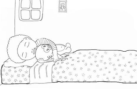 Nen dormint a la seva habitació