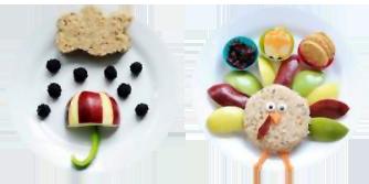 Plats amb aliments saludables