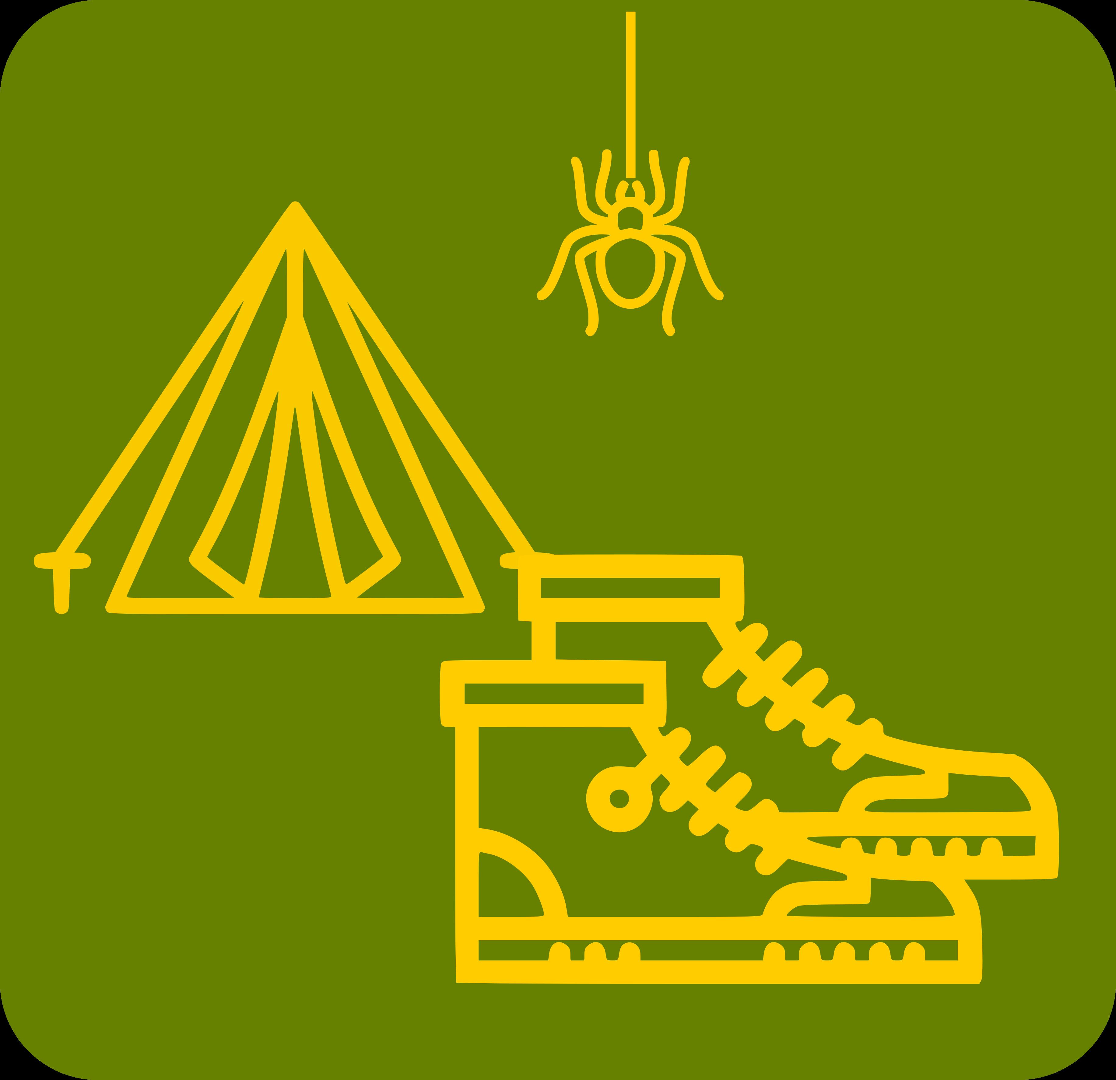 Tenda de campanya amb una aranya