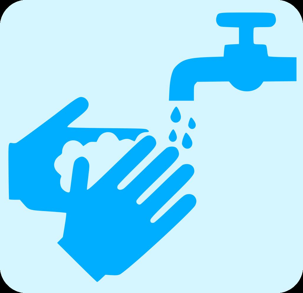 Icona mans sota aixeta d'aigua