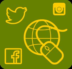 Icona sobre xarxes socials
