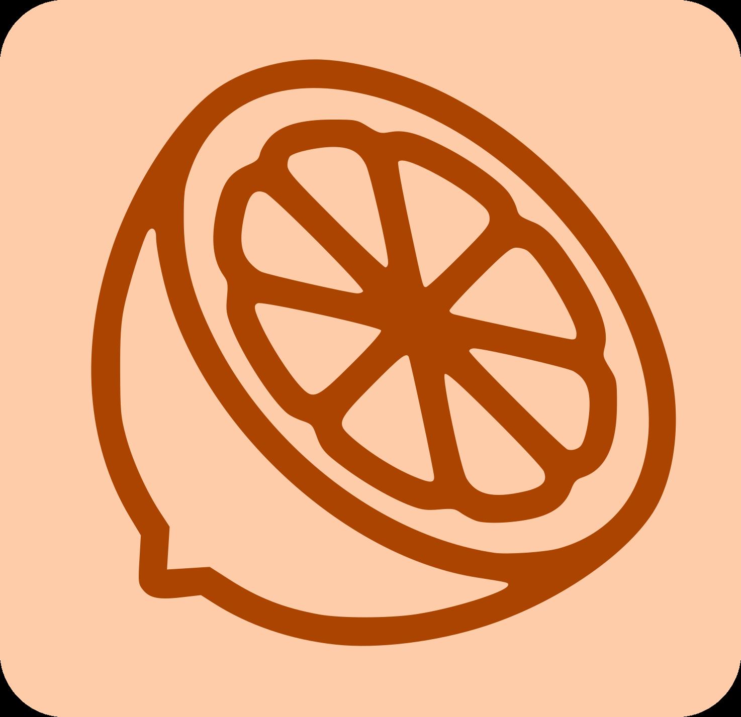 Icono Media Naranja