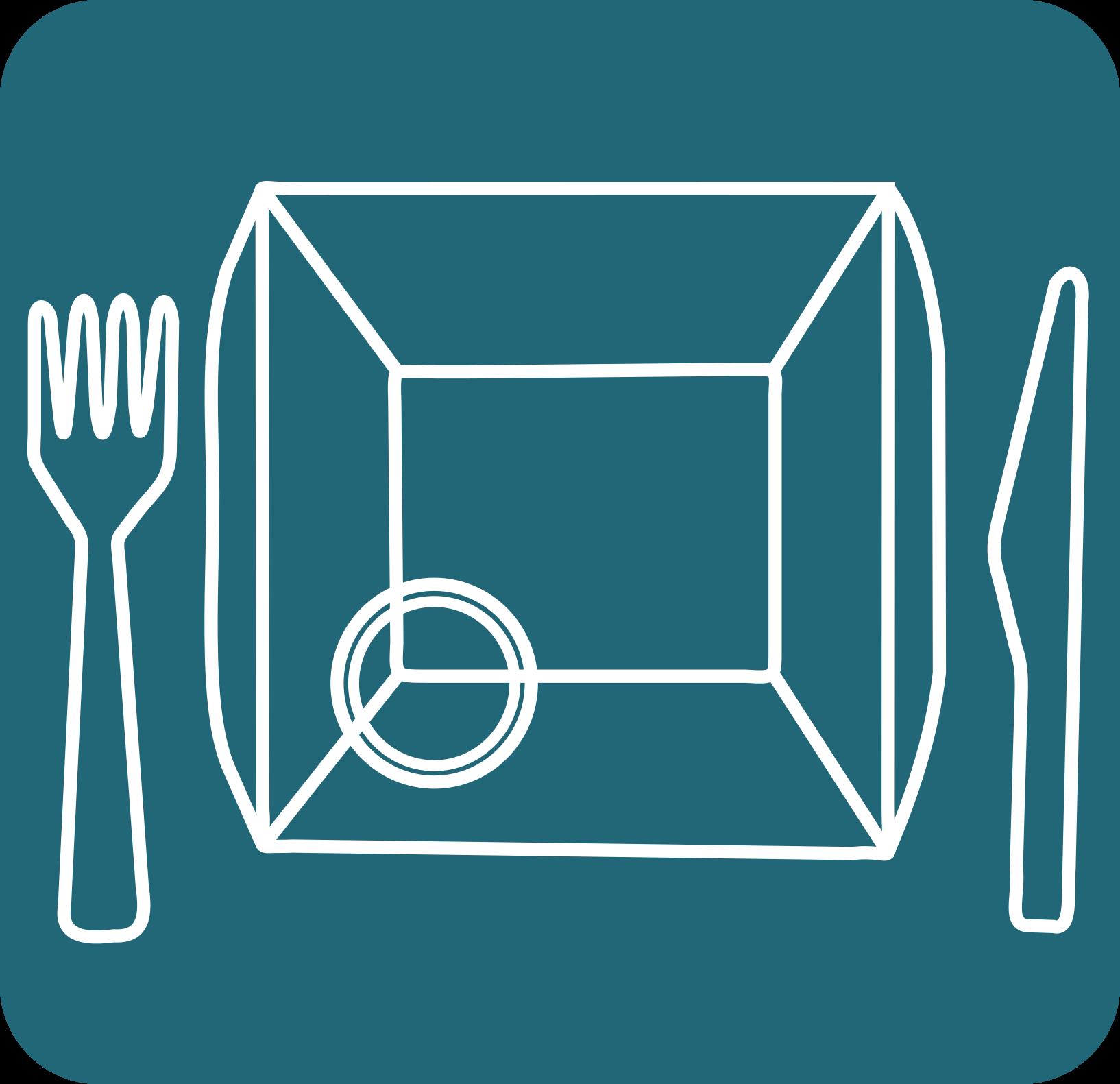 icona d'un plat i cobert
