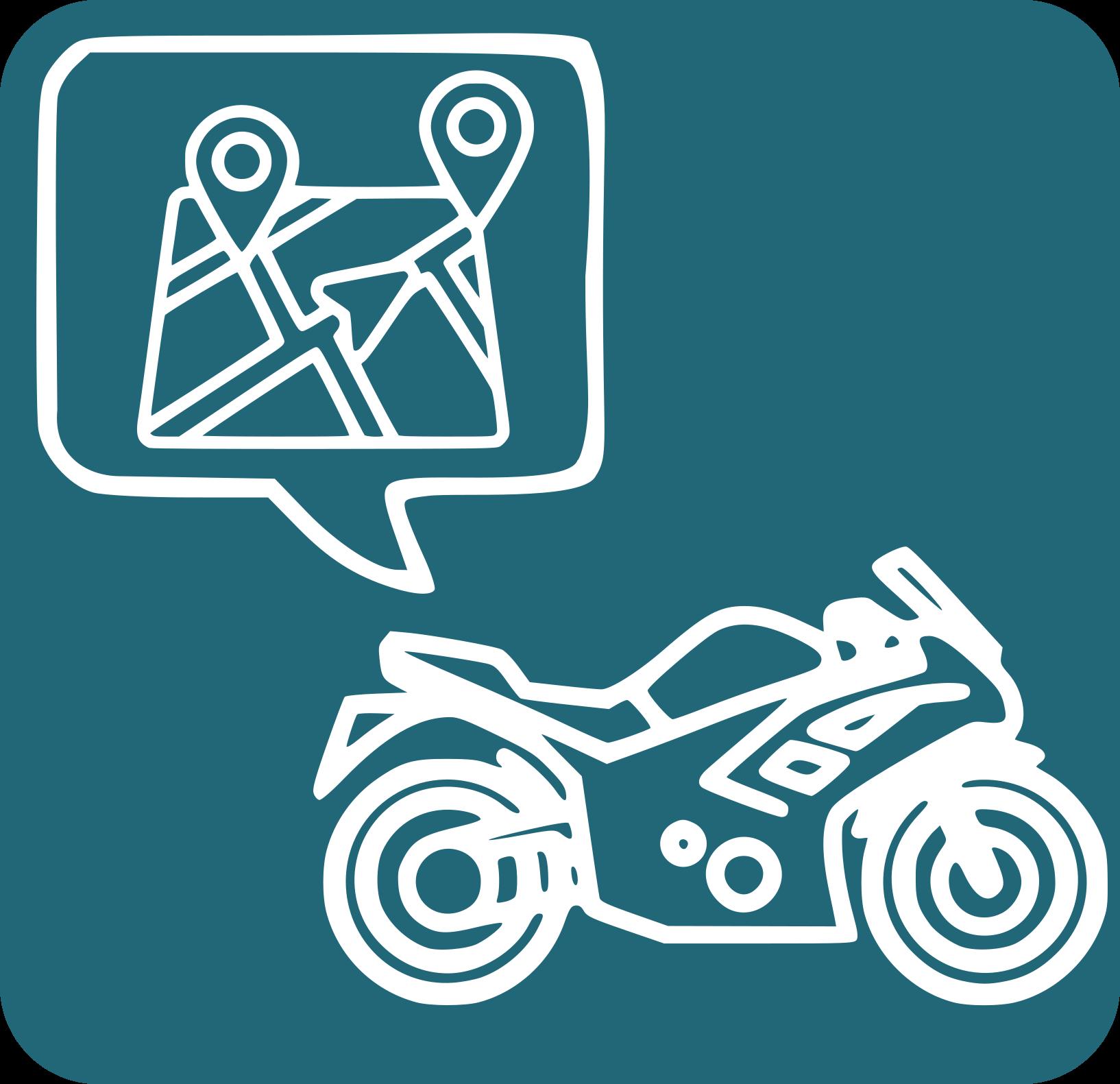 Icona d'una moto i casc