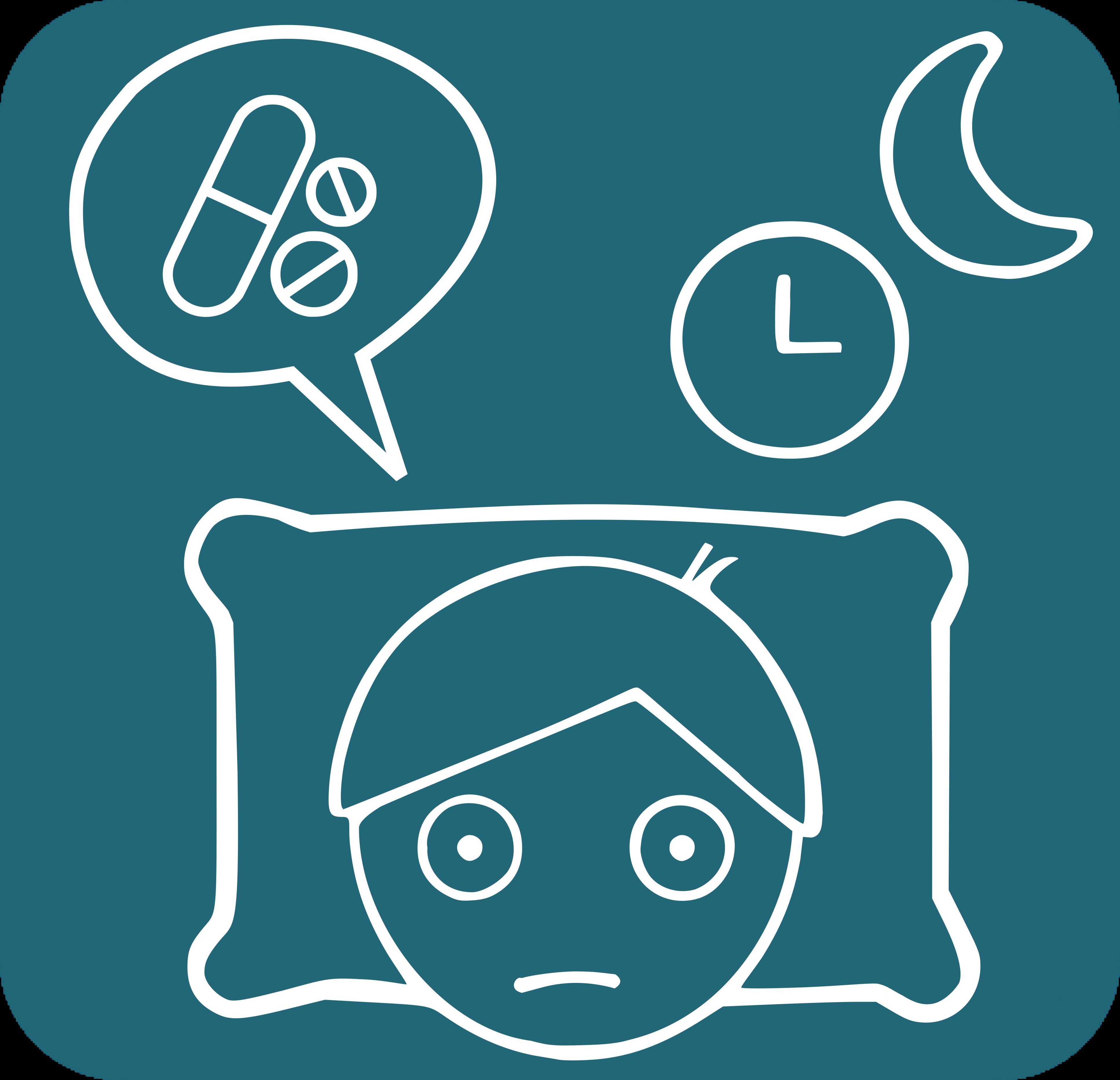 icona amb persona desvetllada i medicaments
