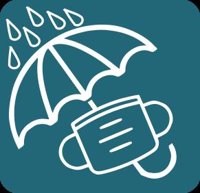 Mascareta i paraigües