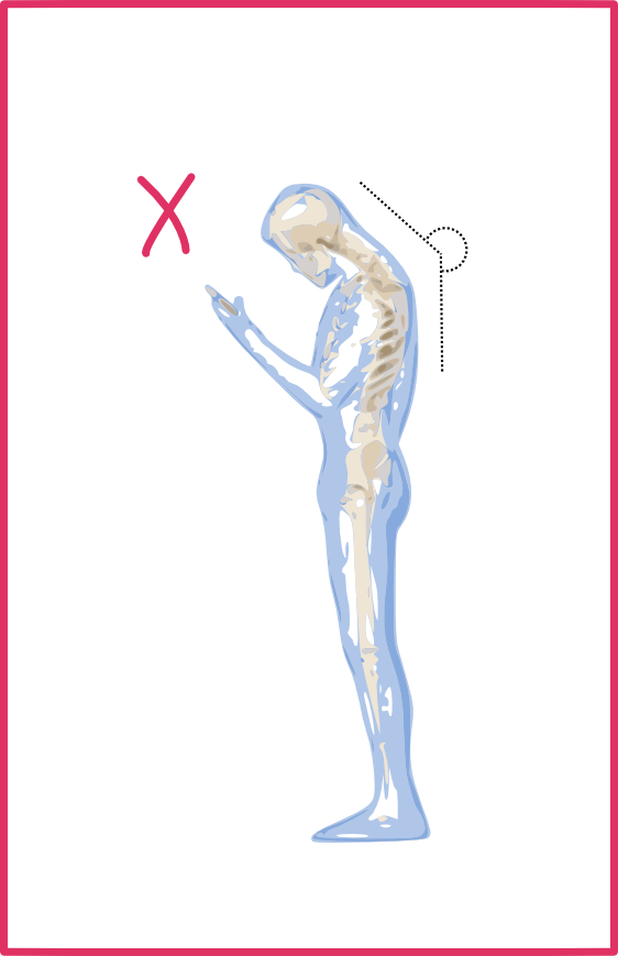 Postura mòbil incorrecta