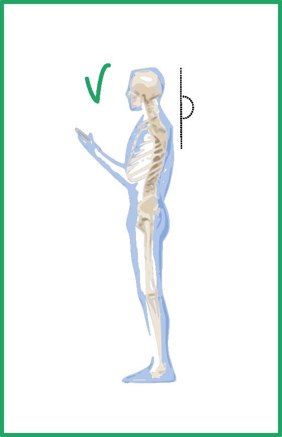 Postura mòbil correcta